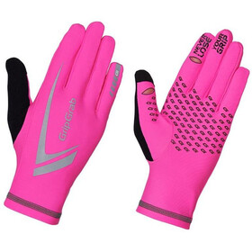 GripGrab Running Expert Hi-Vis Guantes Invierno Touchscreen, fluo pink